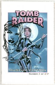 Tomb Raider #13 Sketch Premium Museum Edition Signed Andy Park COA #2 Jay Company